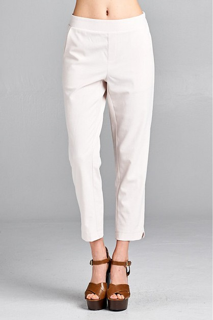 COMFY CASUAL SOLID PANTS - orangeshine.com