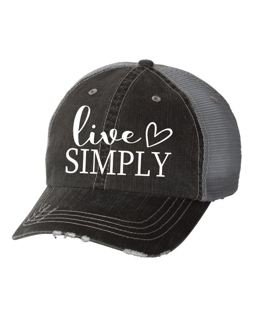 Live Simply Trucker Hat - orangeshine.com