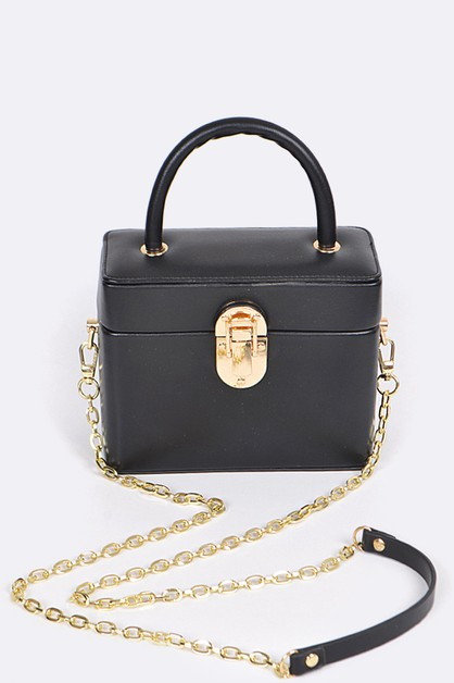 Iconic Leather Box Top Handle Bag - orangeshine.com