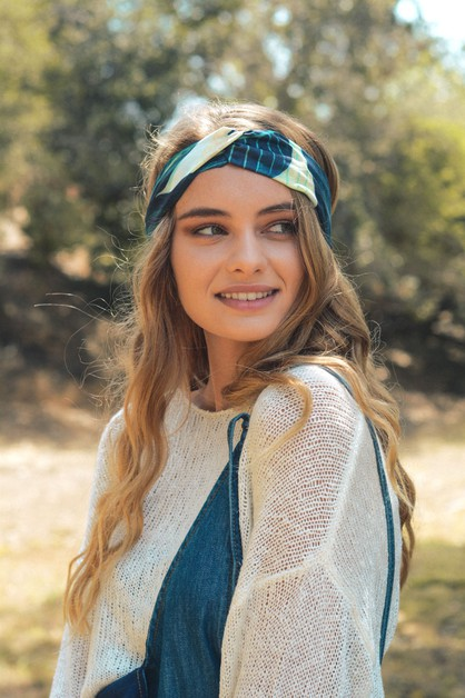 Leaf Print Twist Headband - orangeshine.com