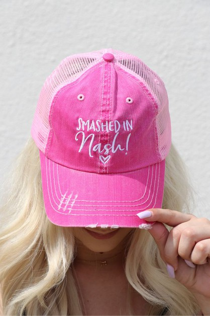 Smashed in Nash Trucker Hat - orangeshine.com
