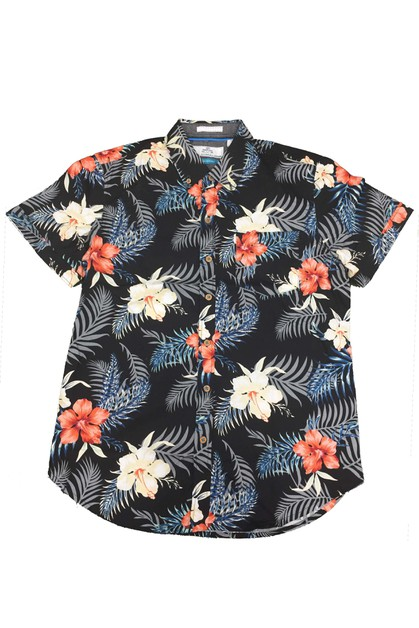 Floral Hawaiian Button Down Casual  - orangeshine.com