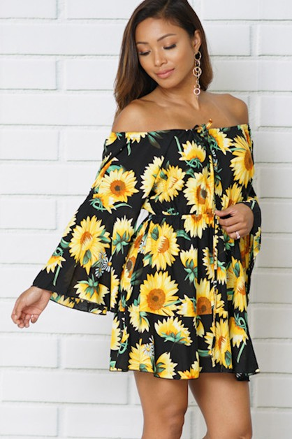 summer dresses off shoulder - orangeshine.com