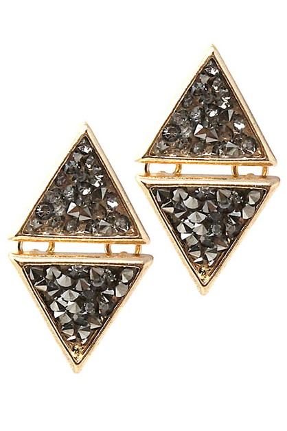 Metal Stone Earrings - orangeshine.com