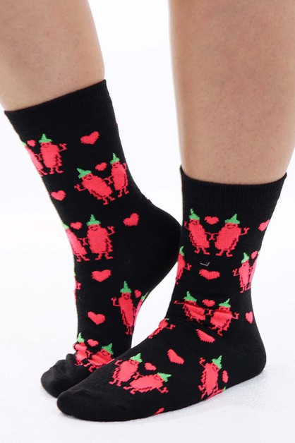 Hot Sauce Socks Black  - orangeshine.com