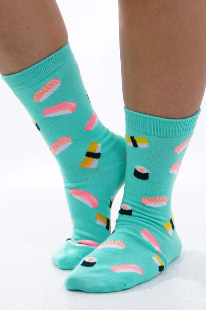 Sushi Socks Mint  - orangeshine.com
