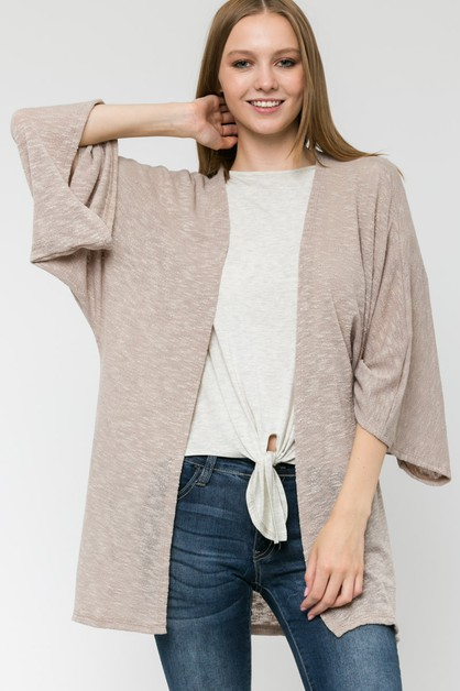 SOLID POLY HACCI LONG CARDIGAN - orangeshine.com