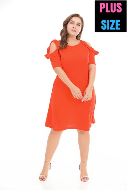 mid Length Dresses Plus Size  - orangeshine.com