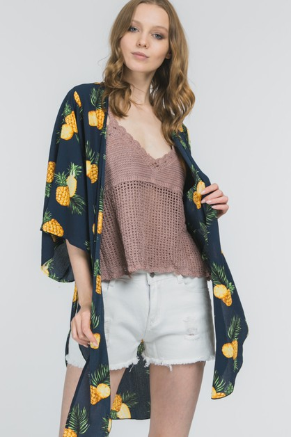 CHIFFON PINEAPPLE TROPICAL PRINT  - orangeshine.com