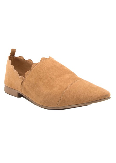 SUEDE PLAIN FLAT SLIP ON - orangeshine.com