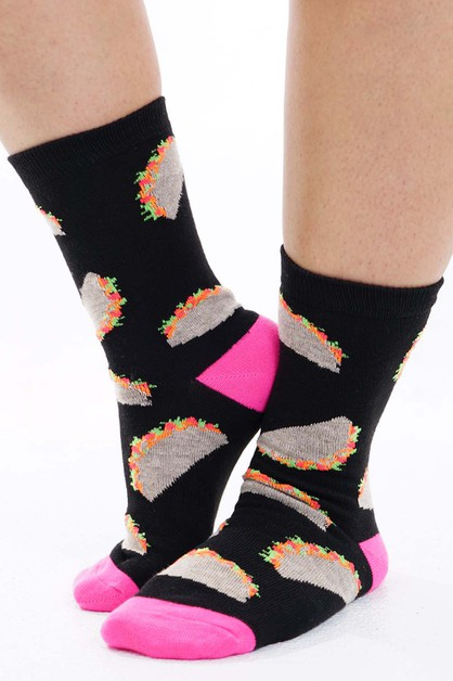 Taco Socks Black  - orangeshine.com