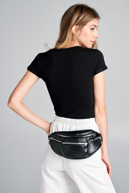 FAUX LEATHER FANNY PACK - orangeshine.com