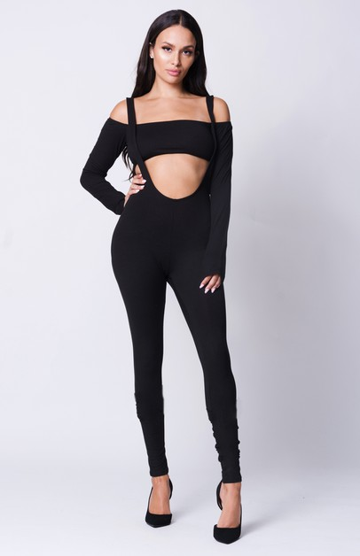 OFF SHOULDER LONG SLEEVE JUMPSUIT - orangeshine.com