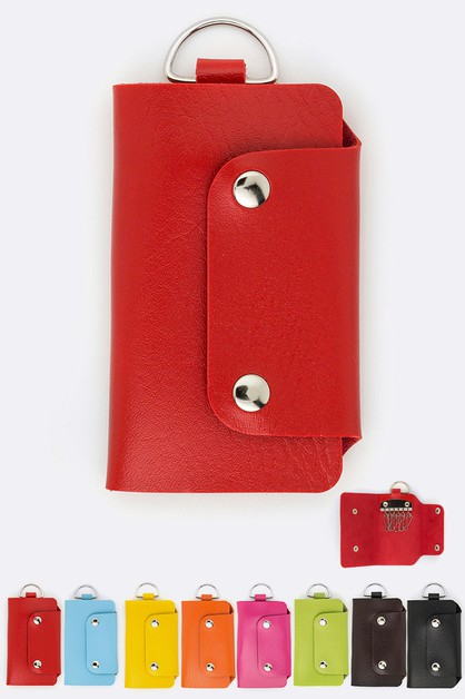 Assorted Color 6 Key Wallets - orangeshine.com