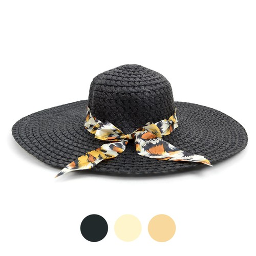 Women 5 inches Brim Bow Floppy Hat  - orangeshine.com