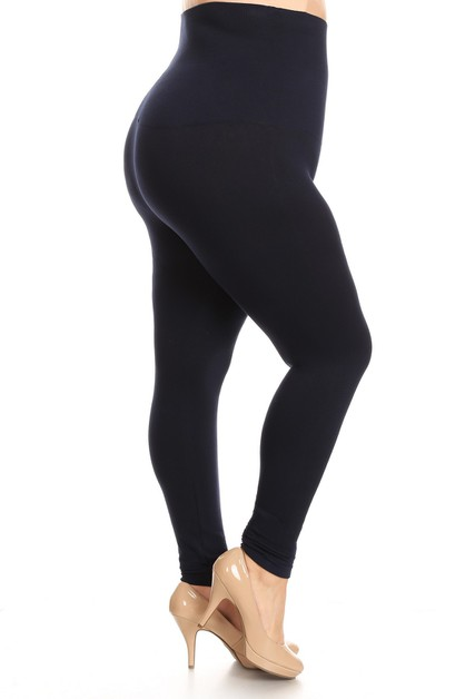 Plus Size High Waist Cotton Compress - orangeshine.com
