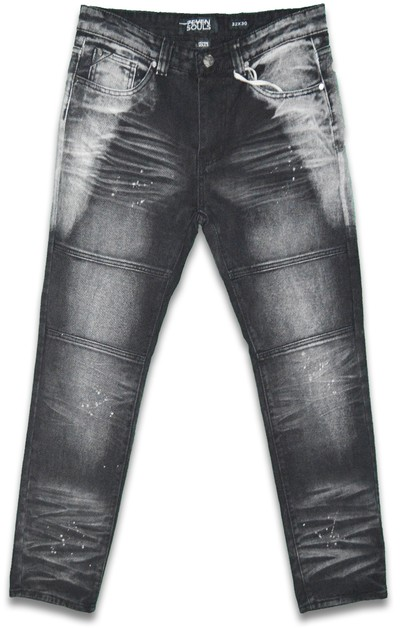 Washed Stretch Denim Skinny Jeans - orangeshine.com