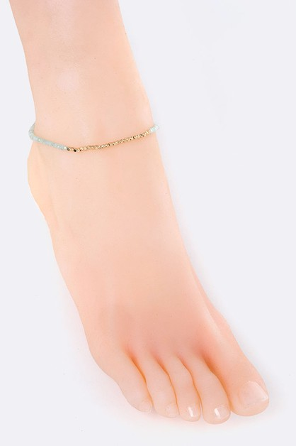 Mix Beads Anklet - orangeshine.com