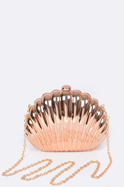 Metallic Shell Box Clutch - orangeshine.com