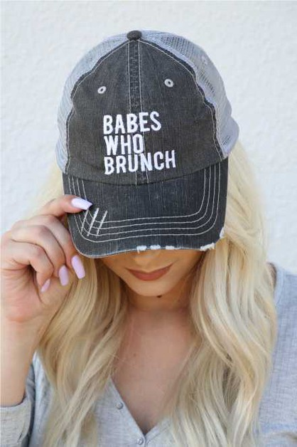 Babes Who Brunch Embroidered Hat - orangeshine.com