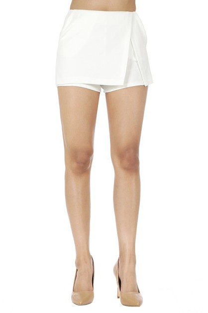 Thick Fabric Solid Mini Skort - orangeshine.com