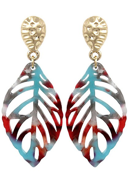 Fashion Leaf Post Earring - orangeshine.com