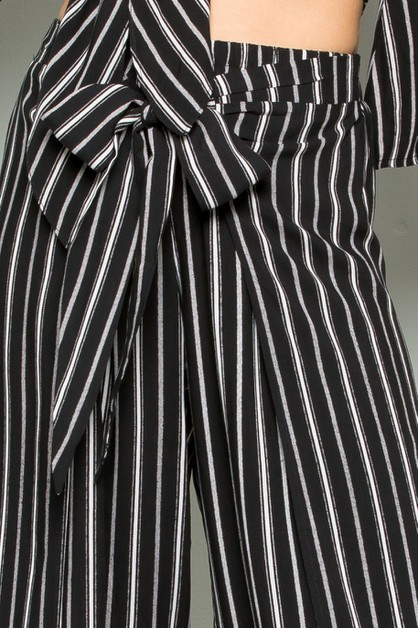 STRIPED MAXI PANTS - orangeshine.com