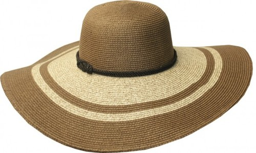 Chic Striped Wide Brim Sun Hat - orangeshine.com