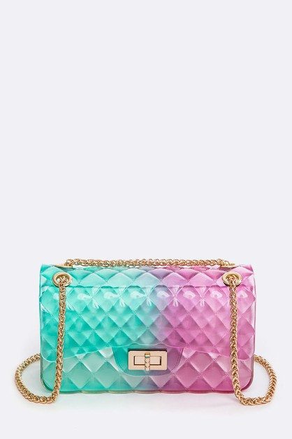 Embossed Color Ombre Jelly Bag - L - orangeshine.com