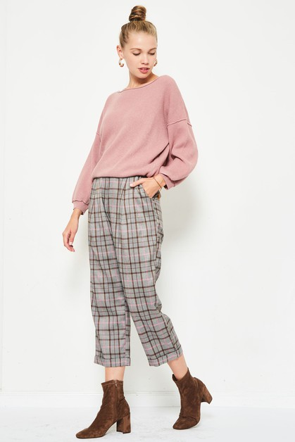 plaid capri pants  - orangeshine.com