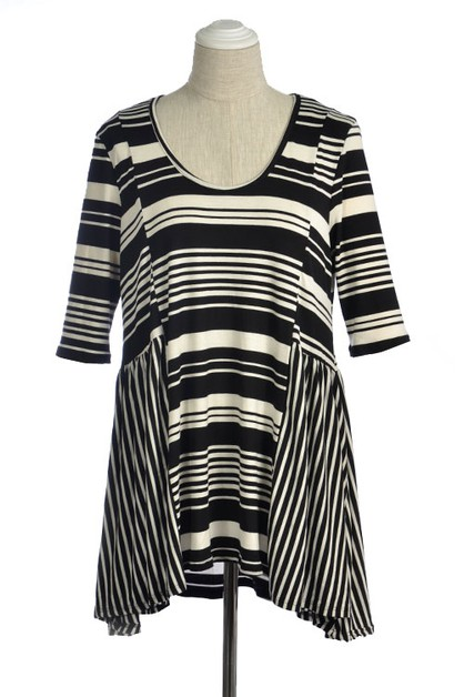 STRIPED TUNIC TOP - orangeshine.com
