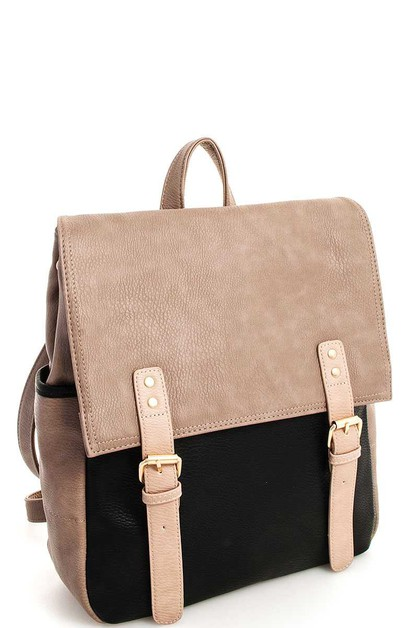 Designer Two Tone Backpack - orangeshine.com