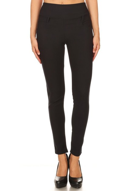 Solid high waisted leggings  - orangeshine.com