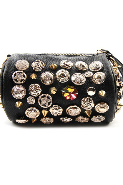 Fashion Buttons Cross Body Bag - orangeshine.com