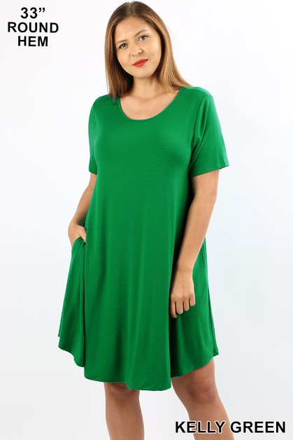 PLUS A LINE DRESS WITH POCKETS - orangeshine.com