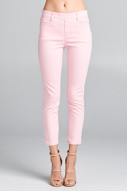 CAPRI STRETCH BAND PANTS - orangeshine.com