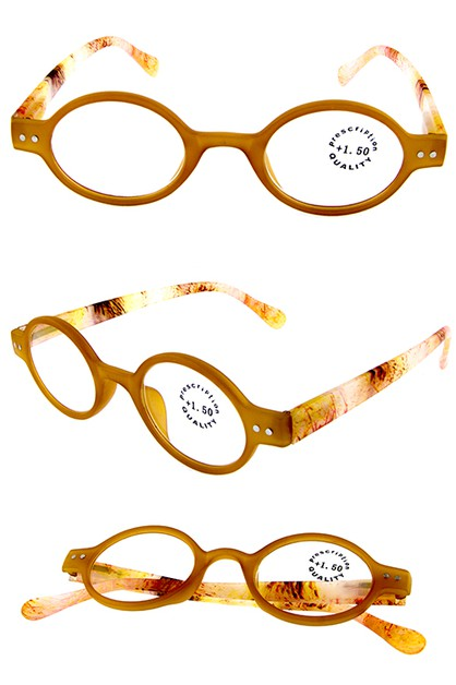 Oval style plastic reading glasses  - orangeshine.com