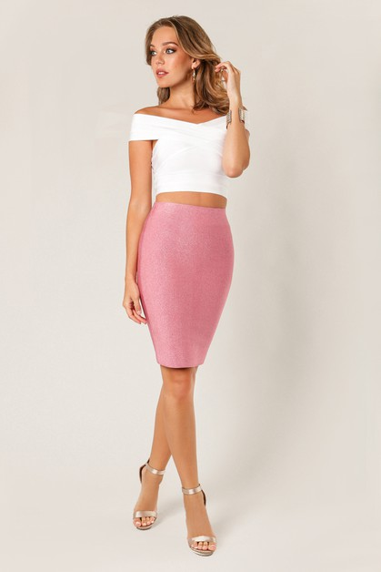 Lurex Pencil Skirt - orangeshine.com