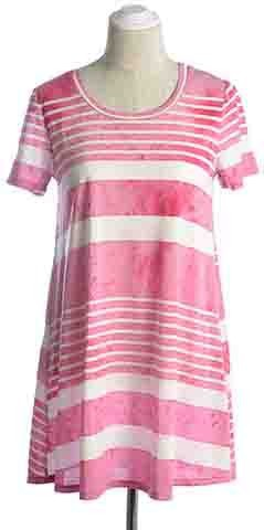 SHORT SLEEVE STRIPE SHIRTS DRESS - orangeshine.com