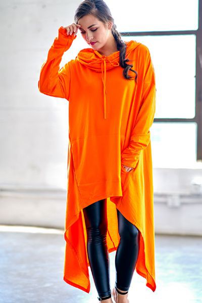 LONG SLEEVE HOODIE TOP - orangeshine.com