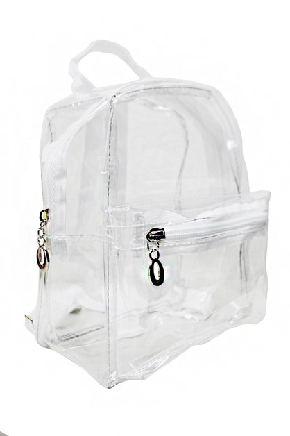 Clear PVC Backpack - orangeshine.com