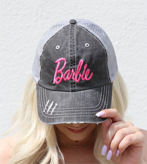 Barbie Embroidered Trucker Hat - orangeshine.com