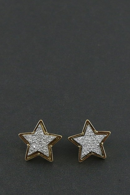 STAR DURUZY POST EARRINGS - orangeshine.com
