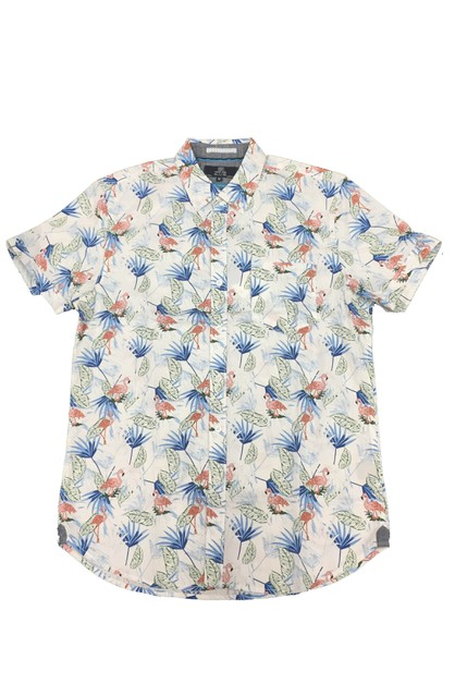Men`s Floral Hawaiian Button Down Ca - orangeshine.com