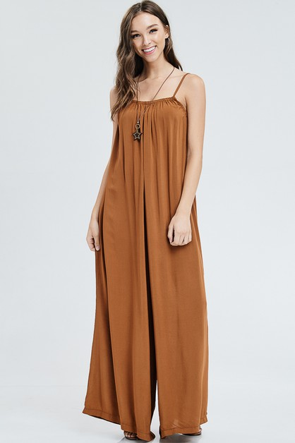 SPAGHETTI STRAP JUMPSUIT NECKLACE - orangeshine.com