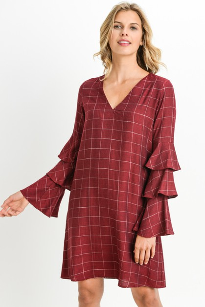Geometric Print Tunic Dress - orangeshine.com