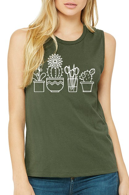 CACTUS COLLECTION MUSCLE TANK - orangeshine.com