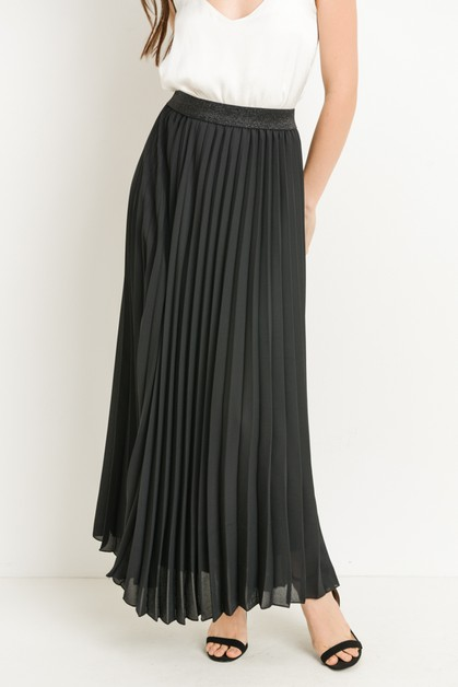 Long Pleated Skirt  - orangeshine.com