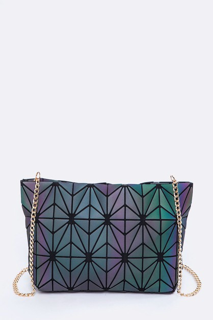 Geometric Structure Crossbody Bag - orangeshine.com