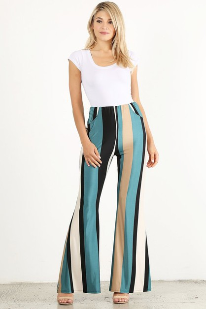 Striped full length high waisted - orangeshine.com